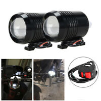 2X 30W LED Motorcycle ATV UTV Headlight Driving Fog Work Lamp Spot Light Switch