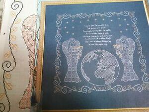 BLACKWORK CHART CHRISTMAS CAROL SAMPLER CHART MARY HICKMOTT DESIGN