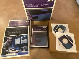 Avid Media Composer With Assorted Discs. Preowned STATUS UNKNOWN.