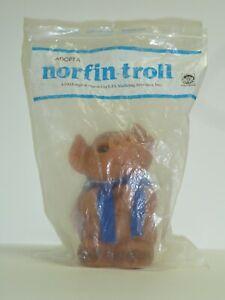 🐷 1980s Early/Original Version of DAM Piggy Troll Bank Still in Bag, Metal Key