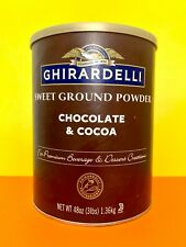New Ghirardelli Sweet Ground Powder Chocolate and Cocoa 3 lbs EXP: 8/31/2021