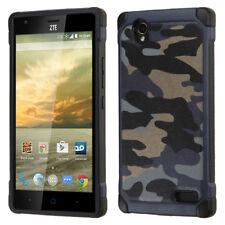 For Zte Warp Elite N9518 Camouflage Navy Blue Black Astronoot Case Cover
