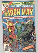 Invincible Iron Man: Annual #3 FN 1976 Molecule Man, Man-Thing