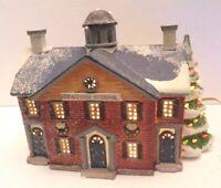 4) Lemax Dickensvale Christmas Stratford School ~ Hills Dept Store Vintage 1995