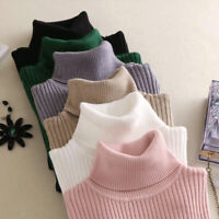 Autumn Winter Women Knitted Sweaters Pullovers Turtleneck Sweater Knitted Tops