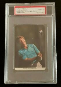 1987 FAX - PAX TOM WATSON PSA 9 SPORTING PERSONALITIES LOW POP ONLY 12 HIGHER.