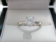 Diamond Solitaire Platinum Engagement Ring 1.00ct IGL certified colourless