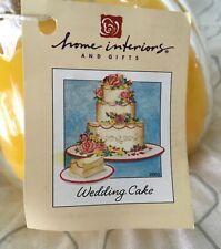 Home Interiors Candle 15.5 oz Wedding Cake Scent NIB Item #11059