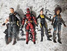 Marvel Legends MCU Deadpool, Cable, Domino, & Negasonic Teenage Warhead Lot of 4