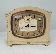 Vintage 1930's Ingraham Mecca Wind Up Art Deco Alarm Clock Repair Decoration