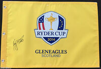 KEEGAN BRADLEY SIGNED 2014 USA RYDER CUP GOLF PIN FLAG GLENEAGLES SCOTLAND J2