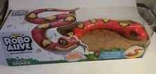 Zuru Robo Alive Red Slithering Snake Real Life Robotic Pets New and Sealed