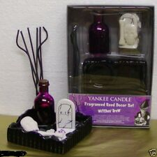 YANKEE CANDLE HALLOWEEN FRAGRANCE REED DECOR SET WITCHES BREW NIP RARE VHTF