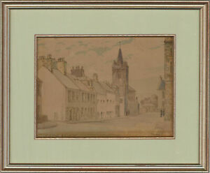 Ann Dallas - Mid 20th Century Pen and Ink Drawing, High Street, Kirkcudbright