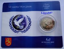 Finland / Finnland speciale 2 euro 2005 VN / UN BU in Coincard