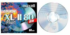 MAXELL XL-II 80 CD-RW REWRITABLE Audio Music pezzo grezzo (624865) Nuovo (World *) 001-107
