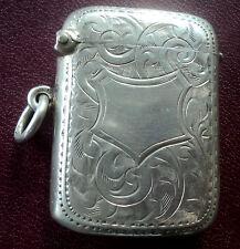 Periodo edoardiano in argento con motivo Vesta/corrispondenza sicuri-BIRMINGHAM 1910 Joseph il Gloster