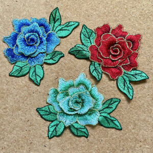 1pc Flower Sew On Layered 3D Embroidered Cloth Patch Appliqué #2074