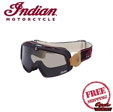 GENUINE INDIAN MOTORCYCLE BRAND 100% PERCENT BARSTOW GOGGLES MX FLAT TRACK NEW