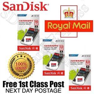 SanDisk 16GB 32GB 64GB 128GB Micro SD TF Memory Card for Phone Tablets Dashcam
