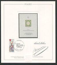 ITALIEN No. 1 OFFICIAL REPRINT UPU CONGRESS 1984 MEMBERS ONLY !! RARE !! z1606
