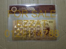 RM100 gold foil banknote with Certificate of Authenticity (not legal tender)