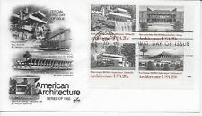US Scott #2019-22, First Day Cover 9/30/82 Washington Plate Block Architecture