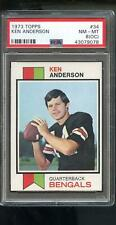 1973 Topps #34 Ken Anderson Kenny ROOKIE RC PSA 8 (OC) Graded Football Card NFL