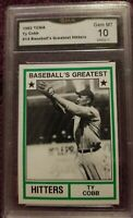 TY COBB BASEBALL CARD CERTIFIED IN EXCELLENT CONDITION