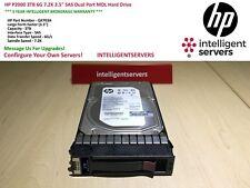 "HP P2000 3TB 6G 7.2K 3.5"" SAS Dual Port MDL Hard Drive QK703A"