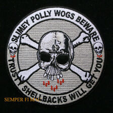 SHELLBACK PATCH USS US NAVY EQUATOR KING NEPTUNE COURT MERMAID BEWARE POLLY WOGS