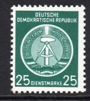 East Germany 25pf Official Stamp c1954 Unmounted Mint Never Hinged (5339)