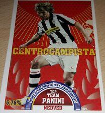 AGGIORNAMENTO FIGURINE CALCIATORI PANINI 2007/08 JUVENTUS NEDVED T8 ALBUM