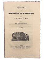 Annales de Chimie et de Physique 1836 Gay Lussac Arago Rose Pelouze Électricité
