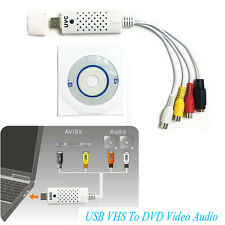 Easycap USB Video Audio VHS VCR TV to DVD Converter Capture Card Adapter White X