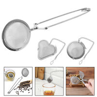 Reusable Stainless Steel Tea Strainer Infuser Tea Ball Filter with Handle/Chain