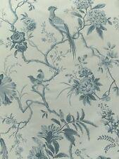 Sanderson Curtain Fabric PILLEMONT TOILE 3.7m Ivory/Blue Bird Design 370cm