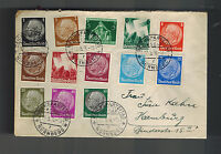 1936 Nuremburg Germany party Day cover to hamburg