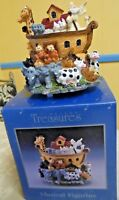 Noah's Ark Resin Timeless Treasure Musical Figurine Tune Talking To The Animals