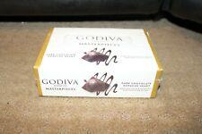 GODIVA MASTERPIECES DARK CHOCOLATE GANACHE HEART BARS BOX OF 12