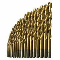 50 Stueck Titanbeschichtetes Schnellarbeitsstahlbohrer Set Werkzeug 1 / 1,5 O2E4