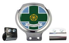 SCOOTER BAR BADGE-Derbyshire County Bandiera-Free STAFFA su misura + raccordi