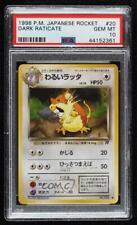 2000 Pokemon Team Rocket Japanese Dark Raticate #020 PSA 10 Gem Mint