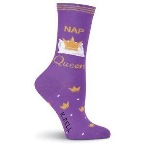 K.Bell Purple Pillow Crown Nap Queen Socks Cotton Ladies Crew Pink Socks New