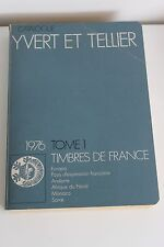 Catalogue Yvert & Tellier 1976 Tome 1 Timbres de France... Philatelie Collection