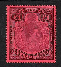 Leeward Islands. SG 114, £1 brown purple & black/red. Very fine used.