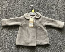 Baby Girls Grey Fleece Jacket Coat With Collar Age 3 - 6 Months Mothercare New