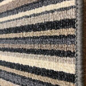 Oxford Anthracite Striped Carpet Hard Wearing Stripe In 4m £11.99 M/2