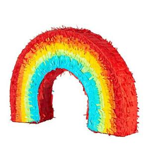 Colourful Rainbow Pinata Game Toy Birthday Party Kids 53cm Multi