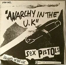 Sex Pistols Anarchy In The U.K. 1st Pressing France 1977 N Mint